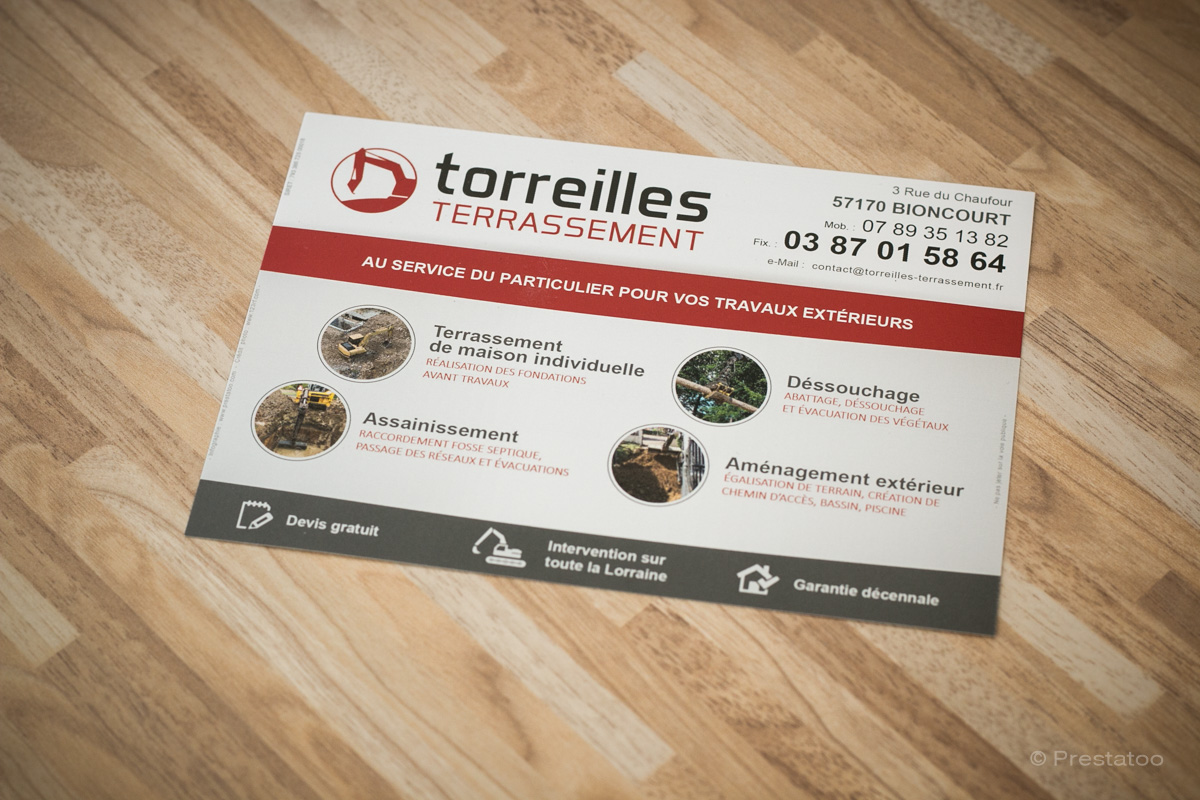 Flyer Terrassement